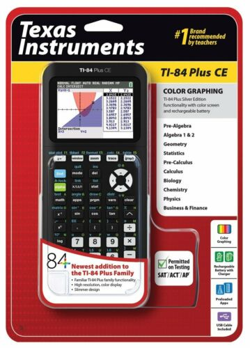 New Sealed Texas Instruments TI-84 Plus CE Color Graphing Calculator Rose//Red