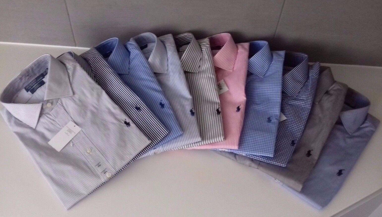 Ralph Lauren Uomini Navy Bianco rosa REGENT Tailor Camicia vestibilità personalizzata 15 15.5 16 16.5