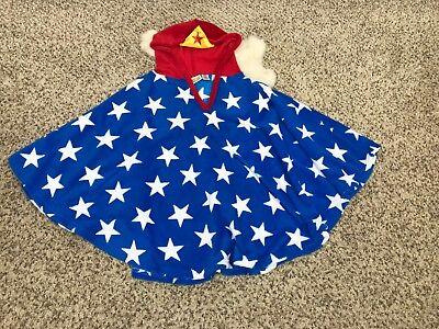 Abile Wonder Woman Ragazza Maglione Poncho Felpa Con Cappuccio Mantella Costume Pile Essere Accorti In Materia Di Denaro
