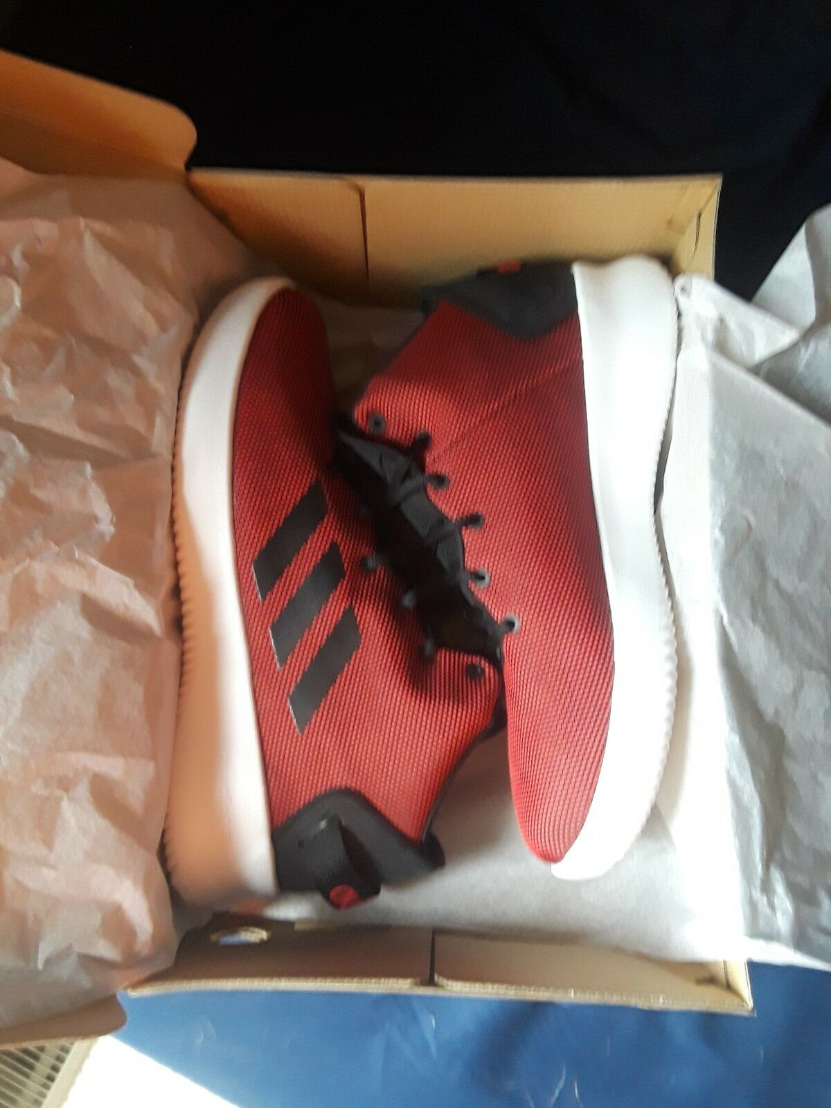adidas NEO Mens CF Refresh Mid Basketball-Shoes, Black/White/Red, 10.5 US The most popular shoes for men and women