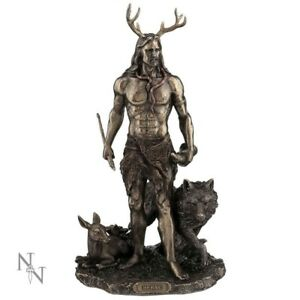 Herne-and-Animals-God-of-Hunt-Celtic-Figurine-Wicca-Altar-Statue-Nemesis-Now