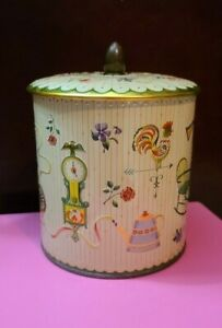 Vintage 60s Cookie/Candy Tin Container Made In England