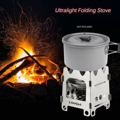 Outdoor Portable Camping Wood Alcohol Stove Folding Picnic Cooking Bur-ner V4P0