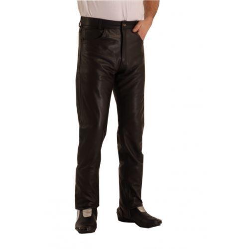 OSX Da Uomo in pelle nera nera nera bici pantaloni bici in pizzo lati rock punk cuoio duro 07b2e3
