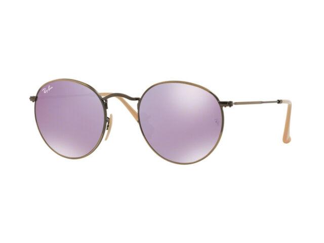 4460769637 Sunglasses Ray-Ban Round Metal Rb3447 9003 96 53 Dark Bronze Blue ...