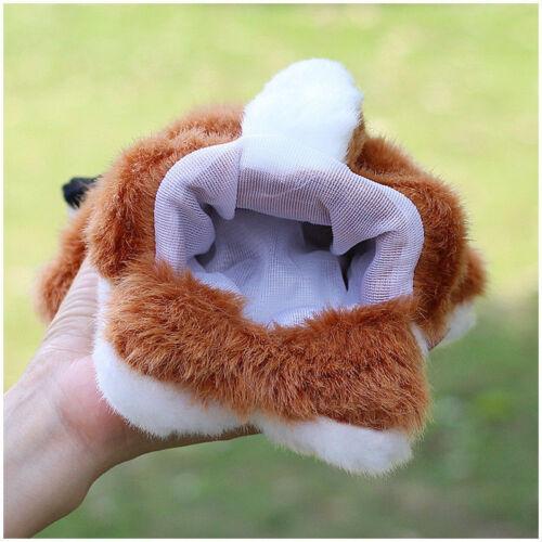 Cartoon Animal Fox Hand Puppet Plush Toys Soft Doll Birthday Kid Educational Toy