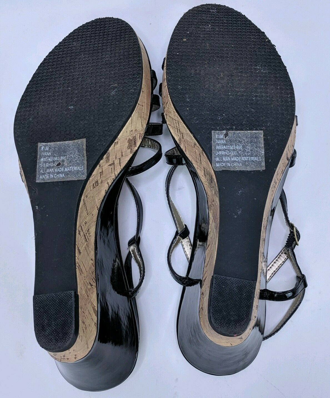 Tommy Hilfiger Women's 8.5M Wedges Heels Black St… - image 4