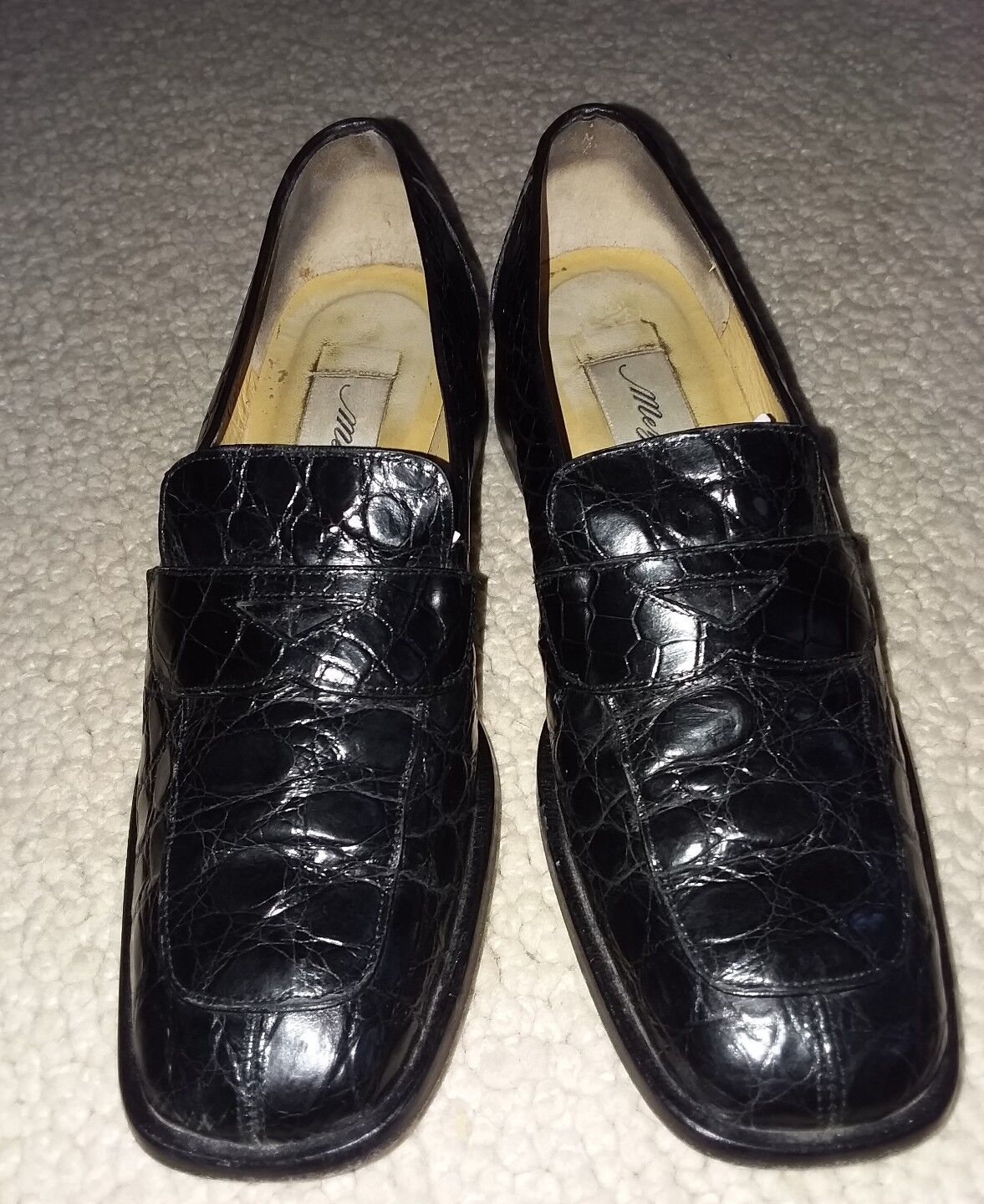 CROCODILE BLACK WNS LOAFERS LOAFERS LOAFERS SHOES 6.5M 6ed4cd