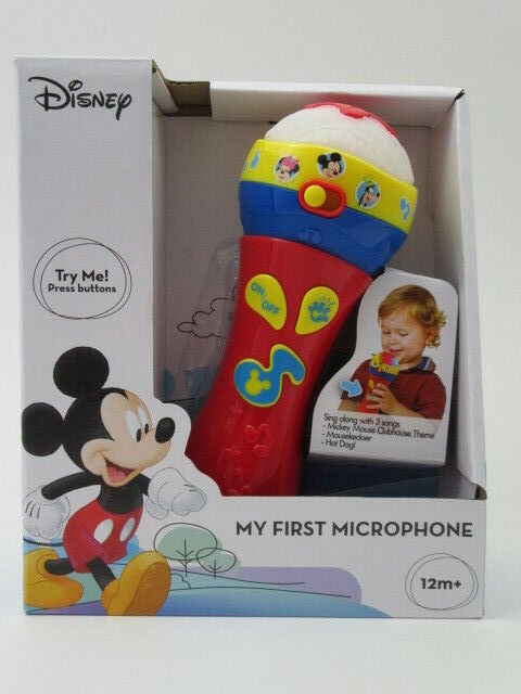 Disney Mickey Mouse Clubhouse My First Microphone Light and Music Toy 12M+ Gift