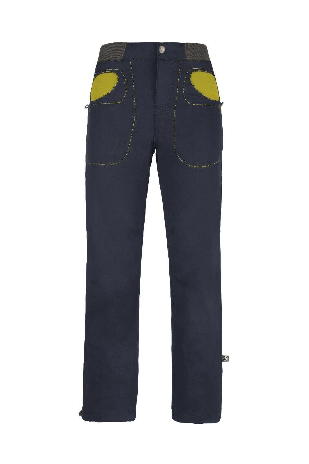 E9 B Rondo Storia Pantalone per Bambini Arrampicata Boulderhose blunavy