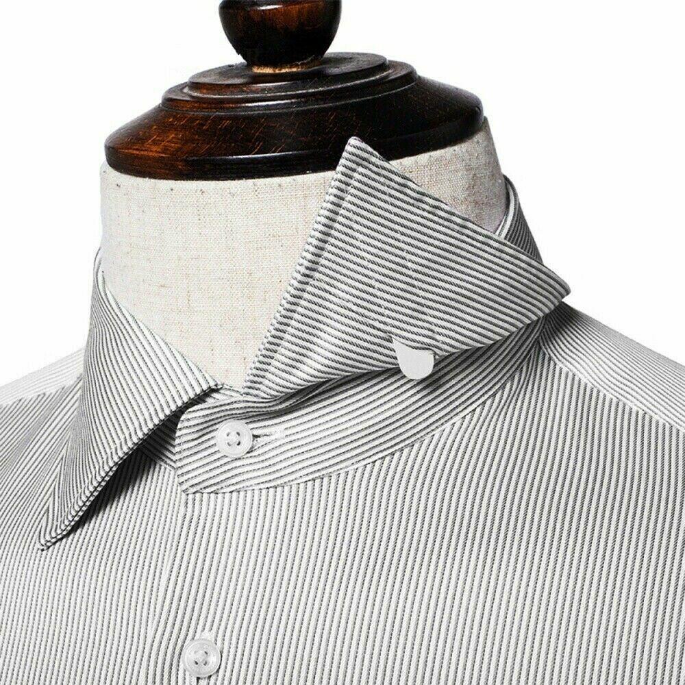 12 Pcs Mixed CollarStiffeners 5cm 6cm 7cm, Men Shirt Bones Stays Plastic White