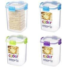 Item 2 Sistema Klip It Accents Cracker Storage Container, 900 Ml   Assorted  Colours  Sistema Klip It Accents Cracker Storage Container, 900 Ml    Assorted ...