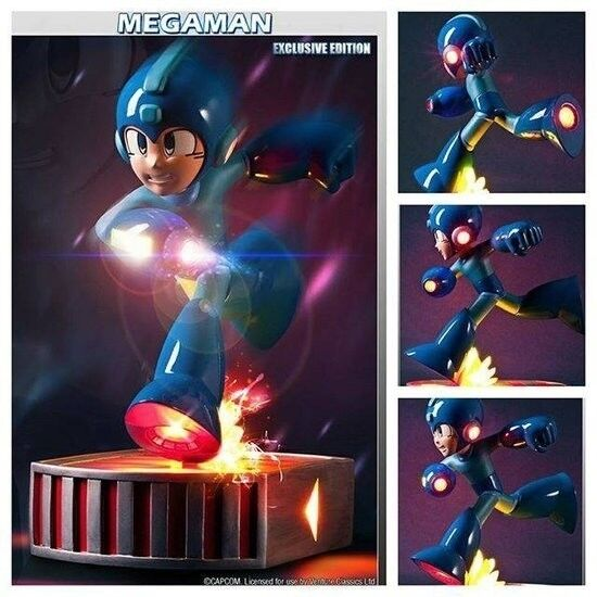 Running Megaman 13  inch Statue Exclusive Version First 4 Figures