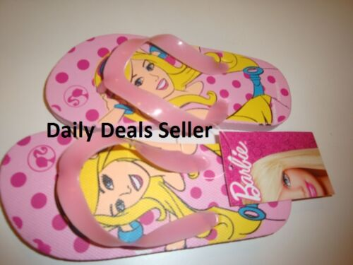 Barbie Flip Flops Girls Kids Children PINK Barbie Imprint Brand New S M L