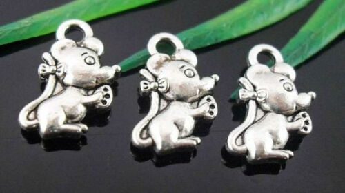 Free Ship 170Pcs Tibetan Silver Lovely Mickey Mous Charms 12x7mm