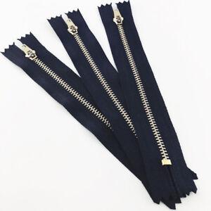 1-10-100pcs-Closed-End-Zip-Zipper-Gold-Metal-Zipper-Sewing-Crafts-6-10-15-20cm