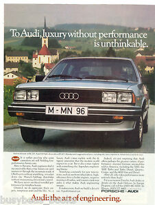 1983 AUDI 5000 Turbo advertisement, Audi 5000 on Eupean road
