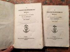 M.Degerando: Du perfectionnement moral, ou l'education de soi-meme, 2 tomi, 1824