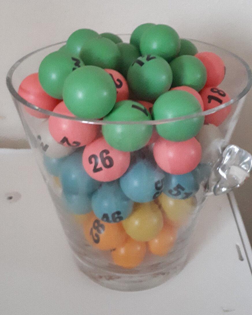 Bingo Blower Balls - Bingo Balls - 38mm Table Tennis Balls - Vintage Used