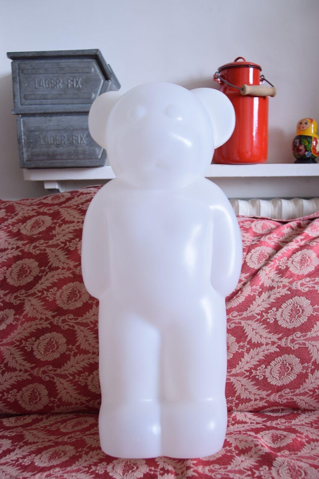 ORSO IN PLASTICA BIANCO-Bianco in piedi Figura Orso-Bear