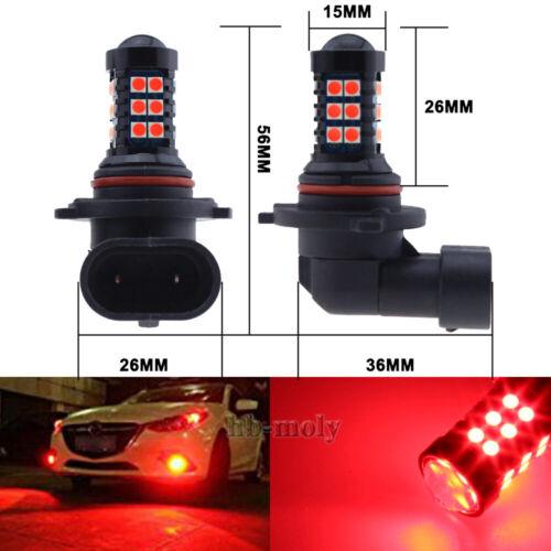 2 Pcs 9005//9006 Red LED 30 SMD 3030 Chip Fog Light Lamp Bulbs For Alfa Romeo 12v