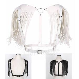 Men-Leather-Body-Chest-Harness-Belt-Punk-Belt-Buckle-Ring-Adjustable-Costume