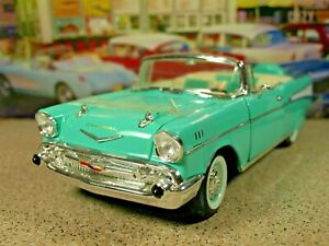 NEVER OUT Road Legends '57 Chevy Bel Air Conv 283 V8 Surf Green/Lt. Green/ White