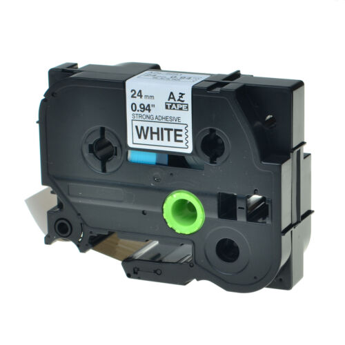 """1PK 24mm TZS251 TZeS251 Black on White Label Tape For Brother P-touch PT-2410 1/"""""""