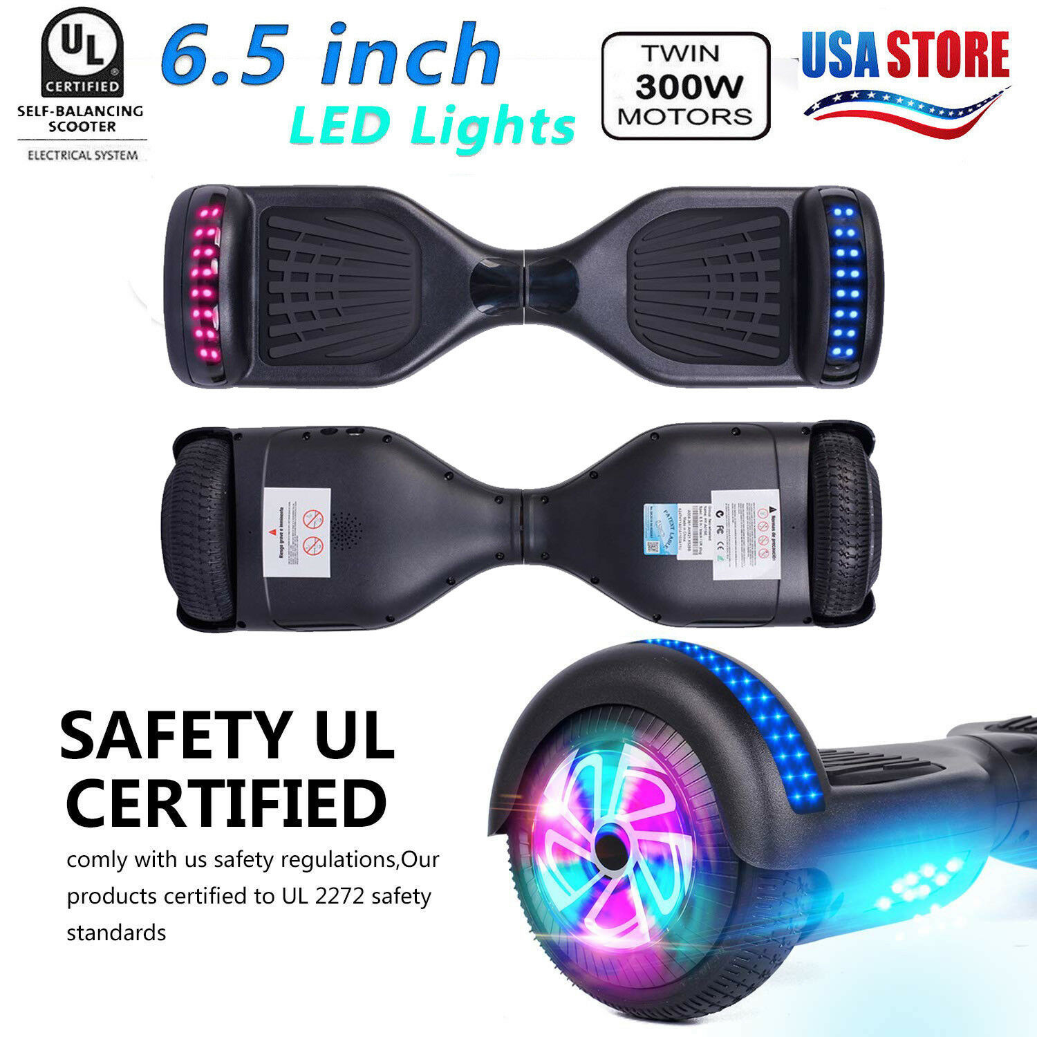 All terrain Hoverboard Power board Hoverheart ul2272 Self Balancing Scooter Gift