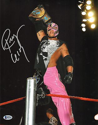 Rey Mysterio Signed 8x10 Photo BAS Beckett COA WWE Wrestling Picture Autograph 6