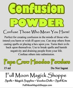 Confusion Powder Hoodoo Dust Voodoo Ritual Protection Confuse