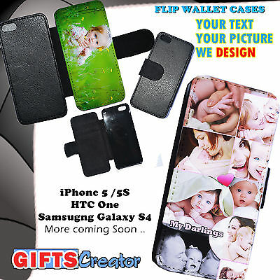 PERSONALISED Phone Flip / Wallet Case Cover for iPhone 7  iPad ,Galaxy S8 S7 S6