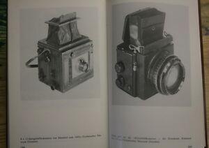Fachbuch-Fototechnik-Historische-Fotogeraete-alte-Kameras-Glasplatten-DDR-1983