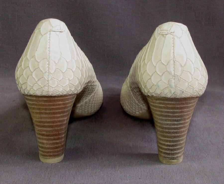 GEOX Pumps Absätze 6.5 cm Vollleder Creme Optik Kroko Kroko Kroko 39 sehr guter Zustand 4b51c7