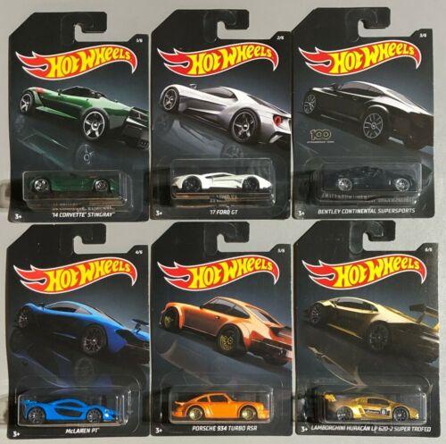 Hot Wheels Exotic 2020 Set 6pcs McLaren Porsche Ford Bentley LM 1:64