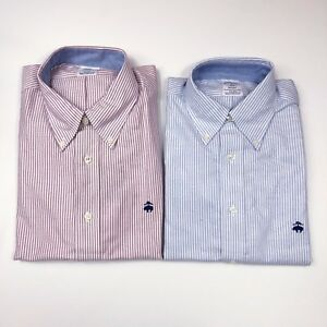 NWT-Brooks-Brothers-Men-039-s-Striped-Oxford-Shirt-Supima-Cotton-Regent-Non-Iron-New