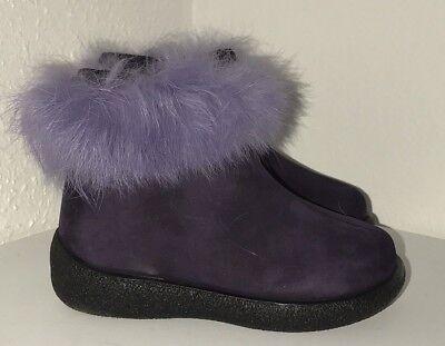 * Nuovo * Mod8 Scarpe Invernali Stivaletti Baby-tg. 21-viola-nub Cassis-pelle-mostra Il Titolo Originale