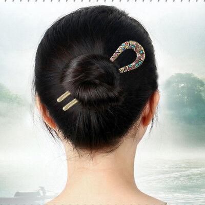 Image result for barette pins in a bun