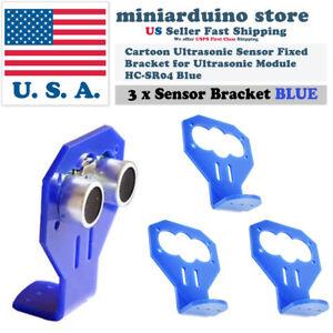 3Pcs-Cartoon-Ultrasonic-Sensor-Fixed-Bracket-Blue-for-HC-SR04-Ultrasonic-Module