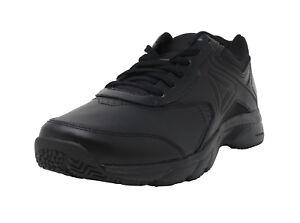 REEBOK Work N Cushion 3.0 Memory Tech Black Wide Sneakers Lace Up ... 1d8a812e2
