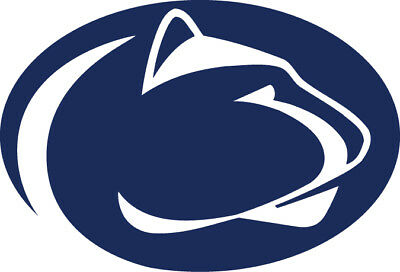 "Penn State Nittany Lions logo 3"" White or Blue Vinyl Decal Truck Car Window  