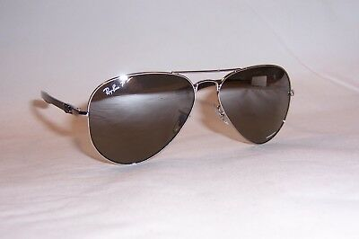 bbe30d42862 New RAY BAN Sunglasses 8317CH 003 5J SILVER GRAY SILVER MIRROR POLARIZED  8317