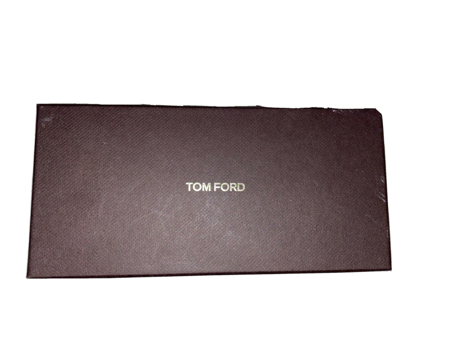 100% Authentic Tom Ford Brown Empty Sunglasses Box With Authenticity Card