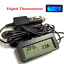 12V LCD Digital Temperature Meter Indoor Outdoor Sensor For Car Auto Thermometer
