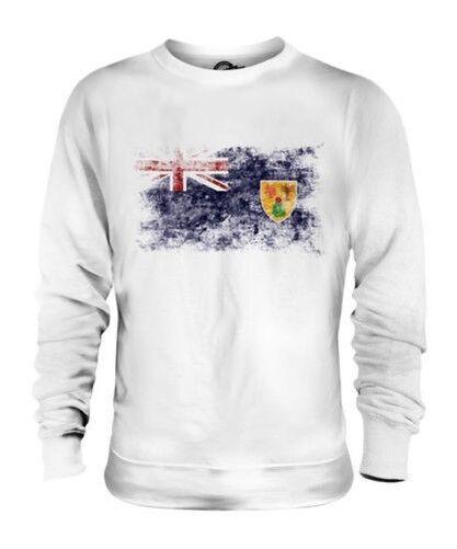 Turcs et Caïques Islands Drapeau Délavé Unisexe Pull Cadeau T-Shirt