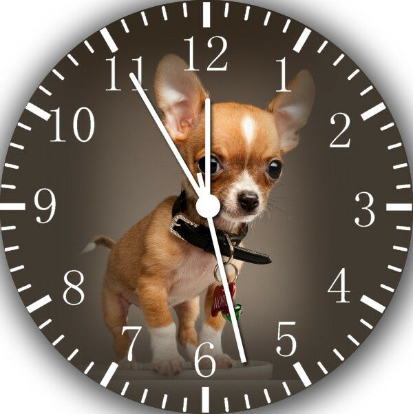 Chihuahua wall mounted personalised quartz clock
