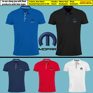 MOPAR-Slim-Fit-Polo-T-Shirt-EMBROIDERED-Auto-Car-Logo-Tee-Mens-Gift-Clothing