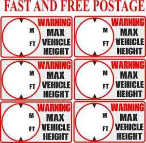 Altura-del-vehiculo-Pegatina-Camion-Calcomania-de-advertencia-de-altura-altura-maxima-senal-de