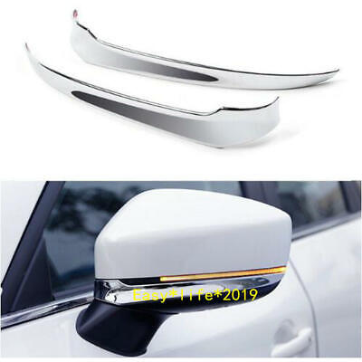 For 2017 2018 Mazda CX-5 CX5 ABS Chrome Side Mirrors Rearview Cover Trim 2pcs