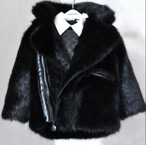 Kids-Boys-Fashion-Winter-Fur-Furry-Coat-Lapel-Thick-Motorcycle-Jacket-Overcoat